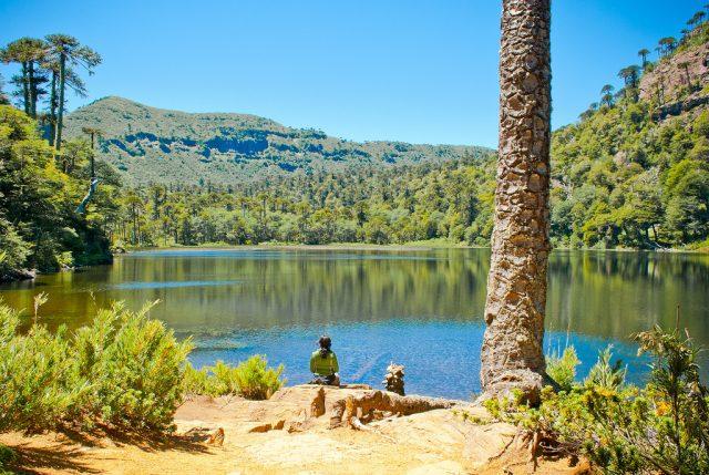 Laguna Verde en el parque nacional Tolhuaca