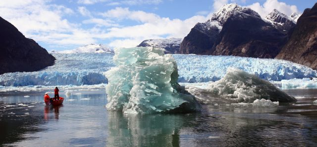 View of The Northern Patagonian Ice Field, located in the Laguna San